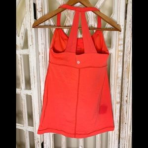 Lululemon bright red Razorback tank top 4